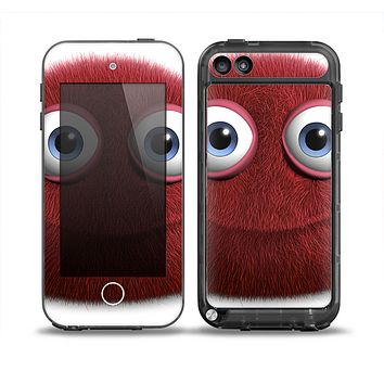 The Red Fuzzy Wuzzy Skin for the iPod Touch 5th Generation frē LifeProof Case