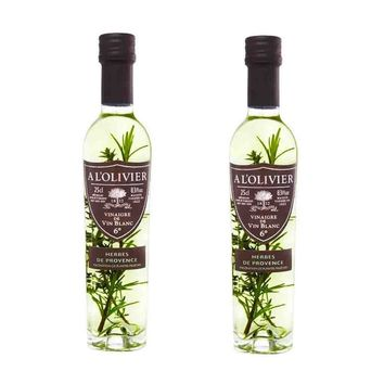 FREE Shipping   2 Pack A L'Olivier White Wine Vinegar with Provencal Herbs, 8.3 fl oz (250 mL)