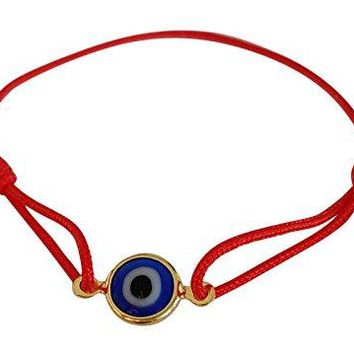AUGUAU Red BABY Sliding Knot Evil Eye Bracelet for Protection, Mal De Ojo