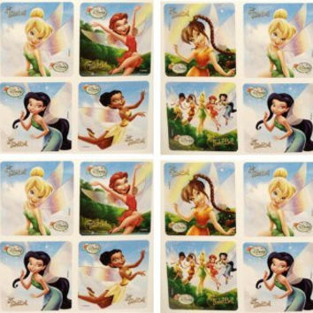 "TINKERBELL STICKERS - Tinker Bell and Friends Birthday Party Favor Sticker Set Consisting of 45 Stickers Featuring 6 Different Designs Measuring 2.5"" Per Sticker"