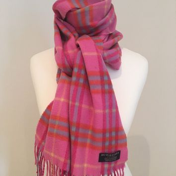 Rare! Limited Edition Pink Burberry Cashmere Scarf