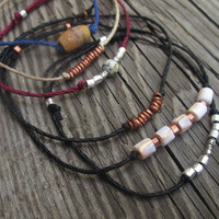 Wish Bracelets / Hemp / Hill Tribe Silver / Ethiopian Copper / Semi-Precious / Good Luck / Gift / Unisex / For Him / For Her /