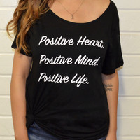 Women's Tee- Positive Heart