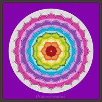 Mandala Chakra - digital crosstitch embroidery pattern pdf  - 192 x 192 cross stitches - 35 x 35 cm or 14 x 14 inches