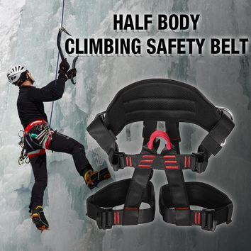 Outdoor Safety Belts Harness Seat Belts mountaineering climbing rope Rock Climbing Rappelling Tool carabiner Climbing Safty Belt
