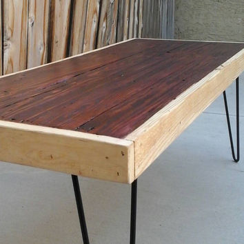 Two tone:  Coffee table , Pallet wood , Reclaimed, hand crafted, wooden table, furniture
