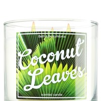 14.5 oz. 3-Wick Candle Coconut Leaves