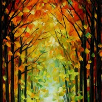 ALTAR OF TREES — PALETTE KNIFE Oil Painting On Canvas By Leonid Afremov - Size 36x20. 10% discount coupon as well - deviantart10off