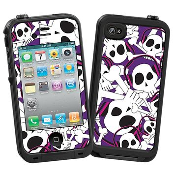 Skull Prince with Beats on Purple Skin for the iPhone 4/4S Lifeproof Case by skinzy.com