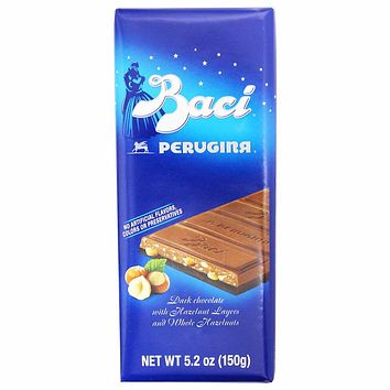 Baci Dark Chocolate Bar with Hazelnut Layers and Chopped Hazelnuts 5.2 oz. (150g)