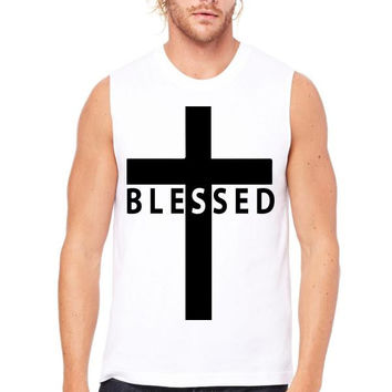 blessed cross Muscle Tank