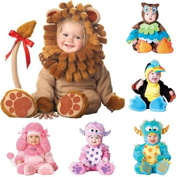 Baby Halloween Costume Cute Animal Rompers - Free Shipping