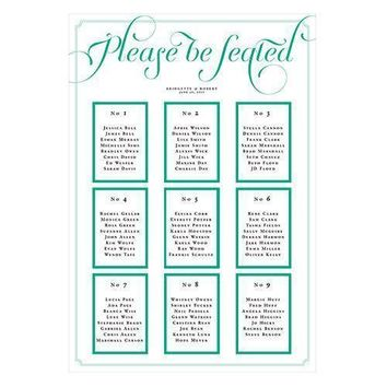 Personalized Seating Chart Kit with Expressions Design Vintage Pink Text With White Background (Pack of 1)