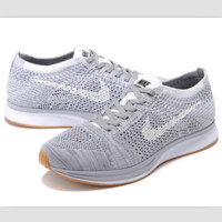 NIKE woven casual shoes light running shoes Gray(white hook)