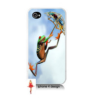 Unique Flying Frog Design Iphone 4/4s case, Iphone case, Iphone 4s case, Iphone 4 cover, i phone case, i phone 4s case