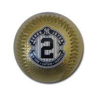 Gold Jeter replica Retirement logo baseball