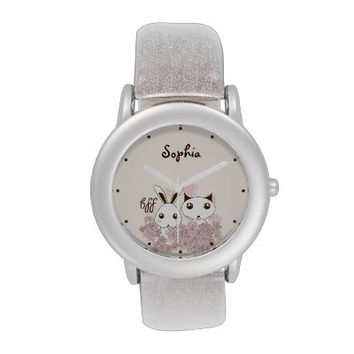 BFF - Best Friends Forever Cute Animal Kids Name Wristwatches