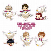 Shiratorizawa Player Charms from made by BING