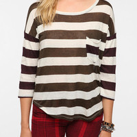Daydreamer LA Striped Pocket Tee
