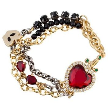 Disney Villains Crystal Evil Queen's Heart Box Snow White Bracelet by Disney Couture | Jewelry | Disney Store