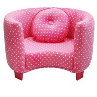 Newco Kids Comfy Chair, Pink Dots
