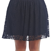 Lace Skater Skirt | Wet Seal+