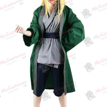Naruto Green Tsunade Cosplay Costume