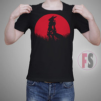 Red Moon Renamon Digimon AllukaArtTees Unisex Adult Tees