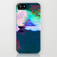 18-23-46 (Skyline Cloud Glitch) iPhone & iPod Case by acousticdemons
