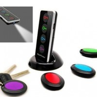 Key Finder 4 Color Coded Receivers and 1 Transmitter with Base Support