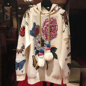 DCCKN6V 'Gucci'' Fashion Casual Long Sleeve Women Hot Hoodie Cute Sweater