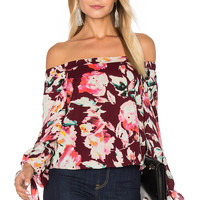 Eight Sixty Off The Shoulder Blouse in Merlot | REVOLVE