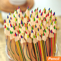 10 pcs/Lot Rainbow color pencil 4 in 1 colored pencils for drawing Stationery drawing Office material school supplies 6292