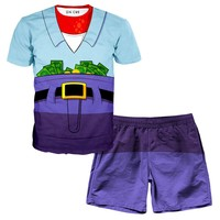 Mr. Krabs T-Shirt and Shorts Rave Outfit