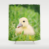 Happy-Go-Ducky Shower Curtain by Beth - Paper Angels Photography