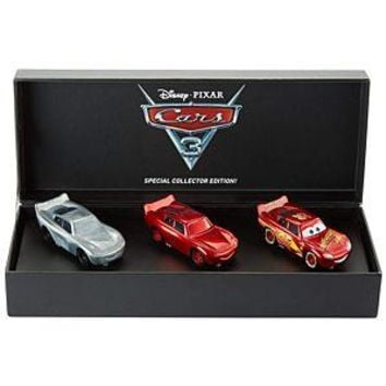 SDCC  Mattel Exclusive Disney Cars Lightning Mcqueen 3 pack