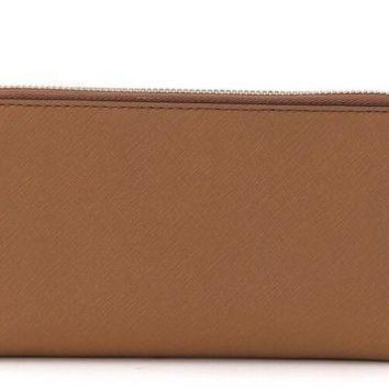 MICHAEL Michael Kors Jet Set Large Flat Multifunction Phone Case WRISTLET ACCORN