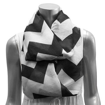 Trendy Chevron Scarf with Monogramming available