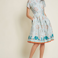 Palava Ensemble Innovator Organic Cotton Shirt Dress in Swimmers