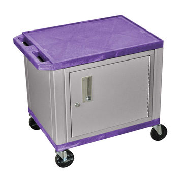 H.Wilson Mobile Multipurpose Tuffy Storage Utility Cart Lockable Cabinet No Electric Purple Nickel Legs