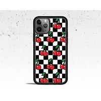 Cherry Checkered Phone Case for Apple iPhone