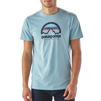 Patagonia Men's Arched Logo Cotton/Poly T-Shirt | Tubular Blue