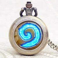 Hearthstone Quartz Pocket Watch With Chain