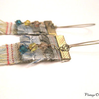 Boho Fringe Earrings  Layers of Rustic by VintageOoakDesigns