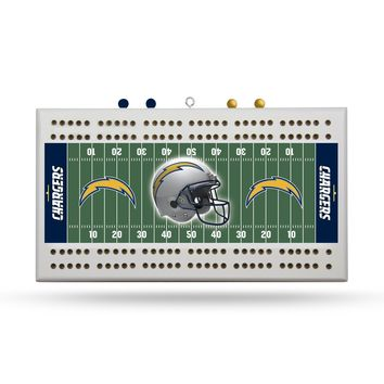 LOS ANGELES CHARGERS FIELD CRIBBAGE BOARD