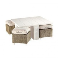 Coffee table and 4 stools NEWPORT - Coffee Tables - Maisons du Monde