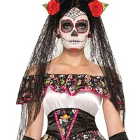 Day Of Dead Veil costume for Halloween