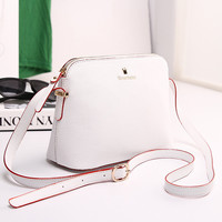 Womens Fashion Leather Shoulder Bag Female Casual Crossbody Bag Women Messenger Bags Chic Handbag +Free Gift -Random Necklace