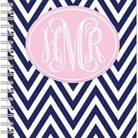Monogrammed Personalized Chevron Notebook