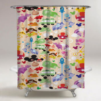 Trend Disney All Character Colage Custom Shower Curtain 60 x 72 Limited Edition